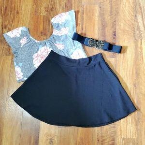 • Charlotte Russe • Black Skater Skirt •